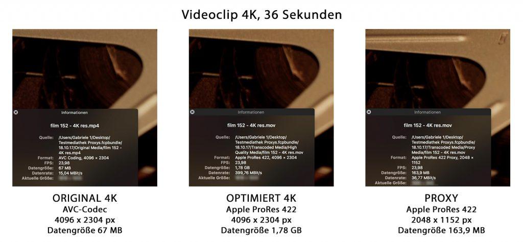 4K-Videos in Final Cut Pro X schneller bearbeiten mit Proxy-Dateien